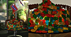 Anti-gravity gummy bear cake (dominotic) Tags: birthdaycake antigravitygummybearcake lolly candy sydney australia gummybears sweets cake confectionery food
