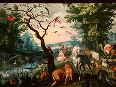 Jan Bruegel the Younger, The animals entering Noah's Ark (detail), 17th century, Museo Lázaro Galdiano, Madrid, Spain (Uncommon Fritillary) Tags: animals painting bruegel madrid spain museolázarogaldiano