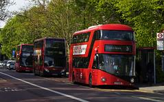 Abellio London LT638 LTZ1638 Route 3 Brixton (TfLbuses) Tags: tfl public transport for london red double decker hybrid buses wrightbus new routemaster borismaster nb4l abellio alexander dennis enviro 400 go ahead general