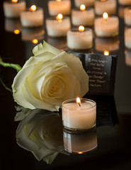 how to not cry at a funeral (jancamilleri) Tags: block service glowing absence memorial memorialvigil tombstone placeofburial funeral praying burning christianity religion memories grief love loss death spirituality candle church commemorative epitaph eulogy