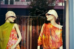 Day 108 : Is for ... The Times We Look At Each Other (Konstantinos Karnaros) Tags: mannequin colors vitrine two look each other 365 floral