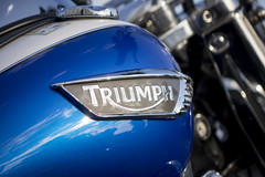 hoping everydays a triumph (Mark Rigler UK) Tags: cycle tank poole quay dream machines dorset triumph motor bike blue