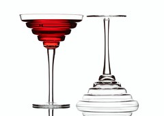 Red & White (Karen_Chappell) Tags: red white glass glasses two liquid drink stilllife lines stemware glassware 2