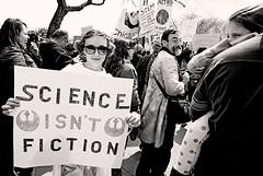 Science Isn't Fiction! (kirstiecat) Tags: princesleia starwars sciencemarchchicagodowntownmonochrome mondayblack whitemonochromestreetcanonprotestliberalepasciencerallycrowdsignresist fascismimpeachimpeach trumpthis is what democracy looks like