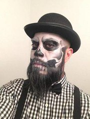 Skull | Skeleton Halloween Makeup , #makeup , FB: http://ift.tt/2ozsEcg (ineedhalloweenideas) Tags: skull | skeleton halloween makeup costume happy h