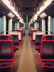 travels, lisbon metro. (eveyrae) Tags: portugal car train subway alone metro pov pointofview solo single inside lonely