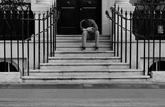 The beginning of a bad start. (its Jason B) Tags: street morning blackandwhite bw london alone sad candid coventgarden 2014