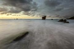Aguilar IX (Adolfo Mtez) Tags: sunset sea stone atardecer mar asturias playa arena aguilar piedra murosdelnaln cantbrico cantabricsea