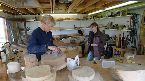 Wood turning demo at Heligan