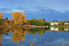 Fall Reflection (amandyg) Tags: alix ab cans2s alberta wow canada albertasky