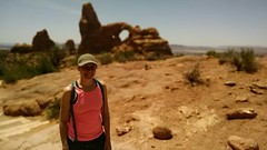 Emily in front of Turret Arch (MarkDoliner) Tags: park person utah arch arches national moab turret grandcounty