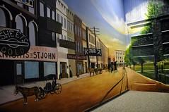Newark, Ohio (Bob McGilvray Jr.) Tags: railroad history museum train mural trolley tracks past theworks depiction newarkohio