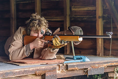 Smallbore prone shooting (alan-evans) Tags: england people sports club north norfolk rifle pistol shooting northwalsham benevans gbr 1411 rifleshooting walsham anschutz smallborerifleshoo