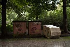 13/5/14 Face Down (miss_everdene) Tags: urban leipzig fallen 365 bins dailyphoto knockedover onepictureaday
