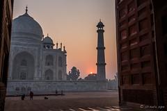 Taj Sunrise 7845 (Ursula in Aus (Resting - Away)) Tags: india architecture taj tajmahal unesco uttarpradesh earthasia