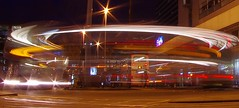 LIght Lines and Buses IMGP1130 (Mike07922, 2.8 Million+ Views - thanks guys) Tags: blur bus night manchester lighttrail lightstream pentaxk5