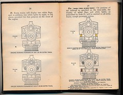 Pennsylvania Railroad Signal Rules 1925 (Mark Vogel) Tags: railroad train eisenbahn railway rules signal prr signaux chemindefer pennsylvaniarailroad signale rulebook markerlight operatingrules signalchart signaldiagram signalaspects signalbilder lanternsignals lampsignals locomotivesignals