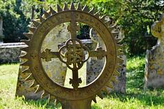 Cast Iron grave markers (stavioni) Tags: church cemetery grave graveyard st headstone mary hampshire marys gravestone marker buriton