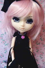 Kuromi (L a l e t t e *) Tags: pink fashion rose asian doll pastel gothic goth wig sakura pullip 16 bara rozen maiden coolcat leeke eyechips leekeworld rewigged barasuishou playscale rechipped