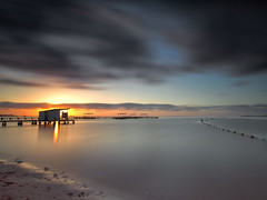 Sunrise at LR 20140524 (tpealver - www.tomaspenalver.es) Tags: longexposure sea sunrise murcia marmenor hitechprostopirnd