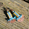 Cubular Blues (Kristi Bowman Design) Tags: blue purple tubes crescent copper earrings cubes halfmoon sarisilk czechglass niobium kristibowmandesign