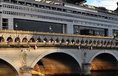 Pont de Bercy (alcowp) Tags: bridge sun paris france seine river evening ministry pont government bercy railings