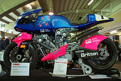 britten v1000 (Burnt Out Chevrolet) Tags: show new pink blue classic beauty wheel standing john bay flying championship twins hand 1st body sony side 14 spokes profile champion engine machine july first grand evolution battle super double britten special 2nd prix motorbike zealand nz record motorcycle second beast brakes quarter 1991 1992 handlebar hastings carbon alpha fiber daytona a200 stressed rare fastest 92 built mile 90s breaker 91 holder assen superbike wishbone fibre 2014 handbuilt showground hawkes crafted v1000 hbcmc