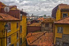 Portuguese Rooftops (0-1-6-1) Tags: sky portugal river rooftops hills porto hdr nos steep trindade primaverasound