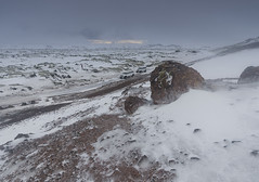 Hengill Lava Field, Iceland (Kristofer Williams) Tags: cloud snow ice field landscape volcano lava iceland mud steam clay geothermal