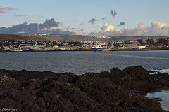 Hafnarfjorur -1-3 (Brynja J.) Tags: houses sea clouds lava ships hafnarfjrur