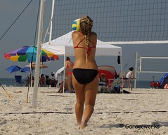 Gulf Shores Beach Volleyball Tournament (Garagewerks) Tags: woman beach girl sport female court sand all child gulf sony sigma tournament volleyball shores 50500mm views50 views100 views150 f4563 slta77v
