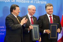 Signature ceremony of the Association Agreements between the EU and Georgia, Moldova and Ukraine (European External Action Service - EEAS) Tags: brussels georgia belgium ukraine ashton moldova barroso vanrompuy
