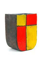 Aldo Londi Vase (altfelix11) Tags: pottery artpottery ceramics italianpottery aldolondi collectible collectable bitossi vase mondrianbrown raymor