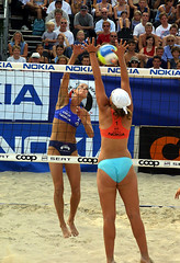 9189-fotogalerie-rv.ch (Robi33) Tags: show summer game sport ball court switzerland sand play action competition basel victory player beachvolleyball international block umpire viewers