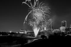 July 3rd Fireworks (ladybugbkt) Tags: skyline river fireworks trinity 4thofjuly rockin fortworthtexas