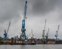 Hamburg Docks (Schmithe) Tags: clouds docks nikon harbour crane hamburg wolken hafen kran elbe d7100