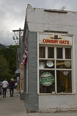 Antiques - Cowboy Hats - 500! (•Nicolas•) Tags: manitousprings shop street usa holidays unitedstates america 2014 roadtrip travel building architecture walls door window town city nicolasthomas
