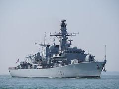 HMS St Albans (Megashorts) Tags: uk england ship military navy olympus hampshire solent portsmouth frigate warship omd arriving 2014 royalnavy em10 40150mm type23 mzd f83 hmsstalbans ppdcb4