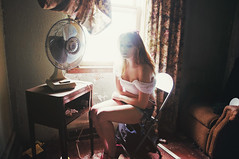 (yyellowbird) Tags: house selfportrait abandoned girl fan illinois lolita cari