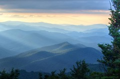 Touch of Sunlight (esywlkr) Tags: mountains landscape nc northcarolina sunbeams wnc mtmitchell mtmitchellstatepark warrenreed