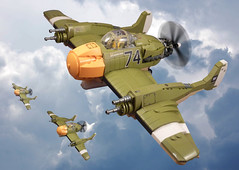 R-16 Vindicator (JonHall18) Tags: plane war fighter lego aircraft fantasy ww2 torpedo bomber moc dieselpunk