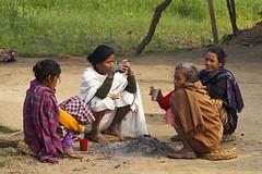 Meeting (Dick Verton ( more than 13.000.000 visitors )) Tags: travel nepal women asia sitting drinking streetscene sit streetview streetshot dickverton tharuvillage