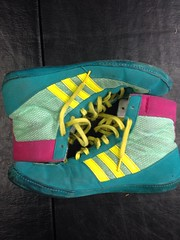 Gone (Ethan[] 704-773-8430) Tags: speed shoes wrestling 9 take adidas combat teals cb4s