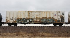 Enron/Woer (quiet-silence) Tags: graffiti graff freight fr8 train railroad railcar art enron woer rtd railheads armn reefer unionpacific armn725380