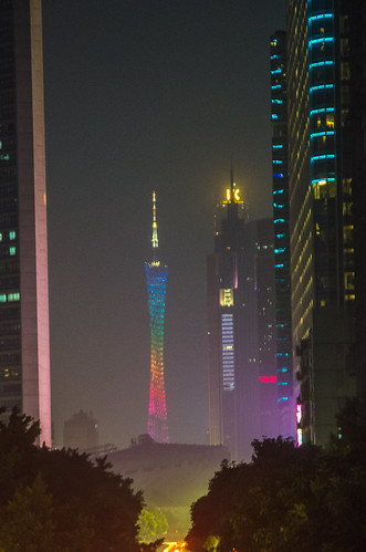 Canton Tower from East Guangzhou Train Station