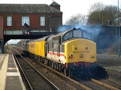 Colas Rail Freight Class 37s 37421 and 37254 crawl through Small Heath (Oz_97) Tags: colasrailfreight 37421 37254 smallheath