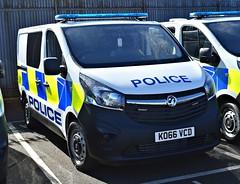 KO66VCD (Cobalt271) Tags: ko66vcd northumbria police new vauxhall vivaro 16 cdti biturbo response van proud to protect livery