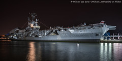 Intrepid (20170324-DSC09472) (Michael.Lee.Pics.NYC) Tags: newyork intrepidseaairandspacemuseum hudsonriver aircraftcarrier 12thavenue night longexposure newjersey sony a7rm2 zeissloxia21mmf28