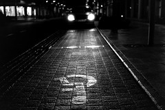 Let there be light (Nikon FE2) (stefankamert) Tags: stefankamert street nikon fe2 film nikonfe2 analog grain night mood lights kodak trix voigtländer ultron bw baw bnw noir blackandwhite