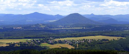 Blick ins Böhmische vom Großen Zschirnstein